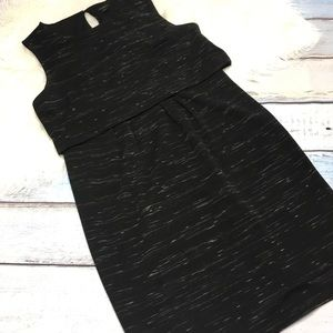 Ann Taylor space dye sleeveless sheath dress sz 14